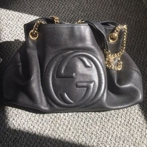 Gucci Bags - Authentic Large Gucci Soho Bag w/ Chain Strap